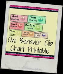 Owl Behavior Clip Chart Printable