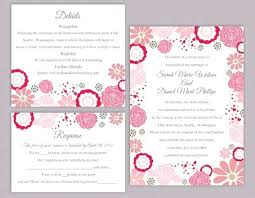 diy wedding invitations templates free feat wedding invitation template set editable word file instant pink