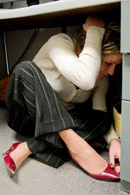 Image result for students under desk earthquake