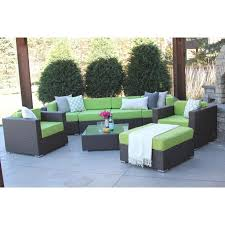 modern patio furniture. Furniture : Hiawatha 8Pc Modern Outdoor Rattan Patio \u2026 Pertaining To Sofa
