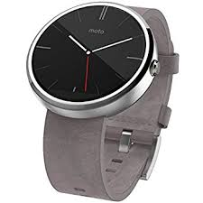 motorola smartwatch. motorola moto 360 - stone grey leather smart watch smartwatch o