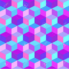 Purple And Blue Background Geometric Colorful Cube Background Purple And Blue Rhombus Seamless