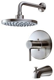 hardware house 13 5627 single handle tub and shower mixer satin nickel