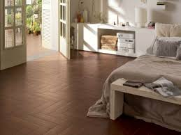 Bedroom Flooring Trends Brown Wooden Floor Tile Black White Pattern