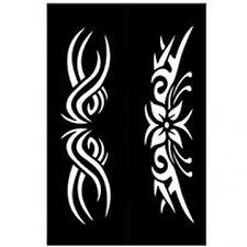 šablony Samolepící Tattoo Ornament Hobbykohoutcz