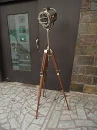 Diy Wood Floor Lamp Decor Tripod Lamp Studio Spotlight Floor Lamp Cb2 Tripod