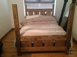 Plank Bedroom Furniture Rustic Plank Four Poster Bed Vanilla Furniture