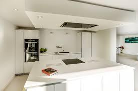 Handleless bulthaup b1 cabinets provide a sleek look and functional  ergonomics.
