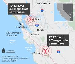 What's the earthquake risk in san francisco bay area? California Earthquakes 4 7 And 4 5 Quakes Felt In San Francisco Area