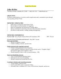 Pastoral Resume Best Minister Resume Sample Free Professional Resume Templates Download