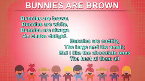 bunnies are brown how to recite poems for kids nursery rhymes songs with s and action