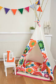 Teepee Play Tent - Tipi - Rainbow Flowers. 125.00, via Etsy.