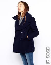 tall womens pea coats wool women s outerwear