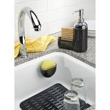 Superb InterDesign Syncware Kitchen Sink Protector Mat, Large, Black   Walmart.com