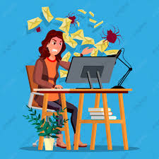Spam Virus Concept Vector Woman Internet Technology Online Mail Attack Hack  Information Web Crime Danger E Mail Fraud Protect Flat Cartoon  Illustration, Desperate, Envelope, Workplace PNG and Vector with  Transparent Background for