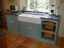 Kitchen Sink In French White French Window Set Before Minimalist Turquoise Free Standing