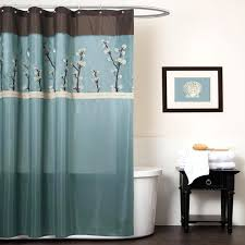 Brown And Blue Chevron Shower Curtain Shower Curtains Design