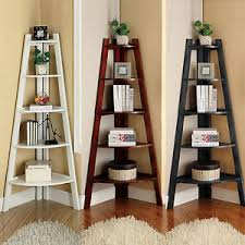 Image is loading Black-Cherry-White-Wooden-5-Tier-Display-Storage-