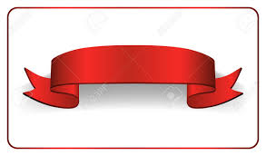Red Ribbon Design Red Ribbon Banner Satin Glossy Bow Blank Design Label Scroll