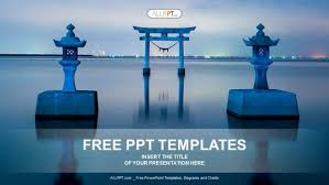 The Famous Torii Gate Powerpoint Templates