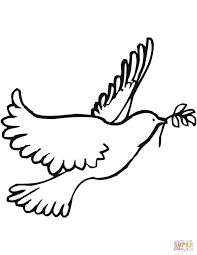 Gratis Kleurplaat Vredesduif