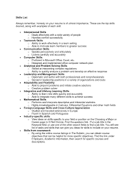 Good Skills To Put In A Resume Free Resume Example And Writing