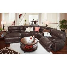 reclining sectional with chaise. Plain With St Malo 6Piece Power Reclining Sectional With LeftFacing Chaise  Brown With