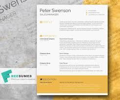 Modern Looking Font For Resume Free Modern Goldenrod Yellow Cv Resume Template In Minimal