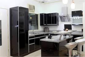 Kitchen:Small Kitchen Design With Black Refrigerator Contemporary Sink  Modern White Kitchen With Black Appliances