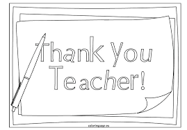 Coloring Pages For Teachers Teacher Appreciation Coloring Pages