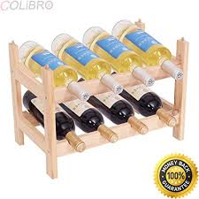 Small wine racks Furniture Colibrox8 Bottle Wood Wine Rack Holder Tier Storage Display Shelves Kitchen Decor Amazoncom Amazoncom Colibrox8 Bottle Wood Wine Rack Holder Tier Storage