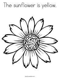 Small Picture The sunflower is yellow Coloring Page Twisty Noodle