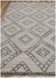 rugsville moroccan beni ourain double diamond wool gray rug 6 x 9