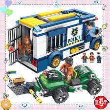 Bộ đồ chơi LEGO lắp ghép Cảnh Sát Áp giải tội phạm trong thành phố (384 Chi  Tiết - Cao Cấp)