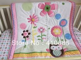 New Pink Flowers Birdie Owlet Girl Baby Cot Crib Bedding Sets 3 ... & New Pink Flowers Birdie Owlet Girl Baby Cot Crib Bedding Sets 3 Items  Including Quilt Bumper Fitted Sheet Kids Bedroom Sheets Little Girls  Comforters From ... Adamdwight.com