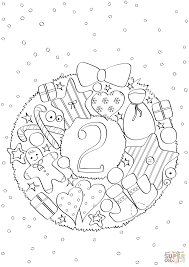 2019 Christmas December Coloring Pages Printable Coloring Page For