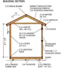 8x12 storage shed plans blueprints 7 building section