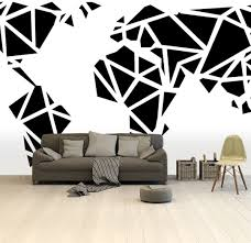 Bolcom Wereldkaart Zwart Wit Kunst Artistiek Behang 265x350