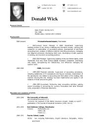 American Resume Format American Resume Template American Resume