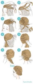 エレガンスな編込みアップのヘアアレンジイラスト付き ヘア
