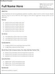 Simple Job Resume Format Resume Formats For Job Job Resume Sample