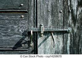 old iron door latch csp14208678