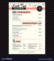Restaurant Menus Layout Restaurant Lunch Menu Design Template Layout