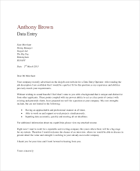 Date On Cover Letters 4 Data Entry Cover Letters Examples In Word P