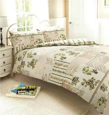 patchwork quilt cover pattern new natural vintage rose patchwork duvet set double quilt cover bed set