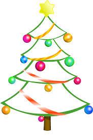 Free Christmas Tree Clip Art  Christmas Lights DecorationChristmas Tree Outline Clip Art