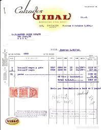Factura Comercial Calzados Vidal En Binisalem Comprar Facturas