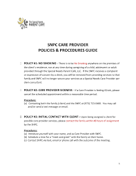 policies procedures guide the special needs parent café llc picture