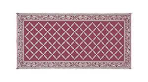 garden mat. reversible mats 119185 burgundy/beige 9\u0027x18\u0027 rv garden mat i