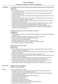 Manufacturing Resume Samples Specialist Manufacturing Resume Samples Velvet Jobs 23